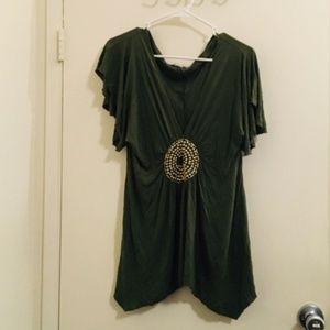 Venus green beaded blouse NO size